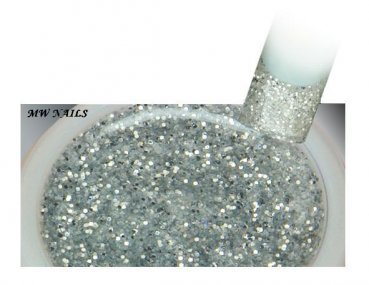 Glitter-Gel Rough Silver 5ml