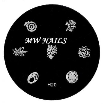 Nail Stamping Schablone H20
