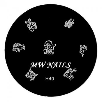 Nail Stamping Schablone H40
