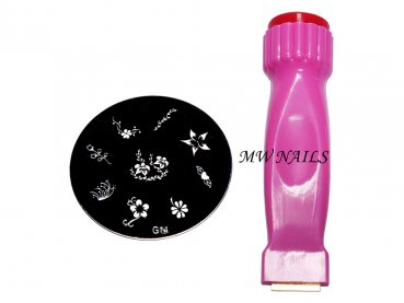 Nail Stamping Set 2 in 1 + Schablone
