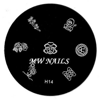 Nail Stamping Schablone H14