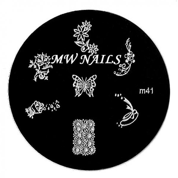 Nail Stamping Schablone m41